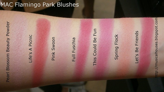 MAC Flamingo Park Swatches Blushes