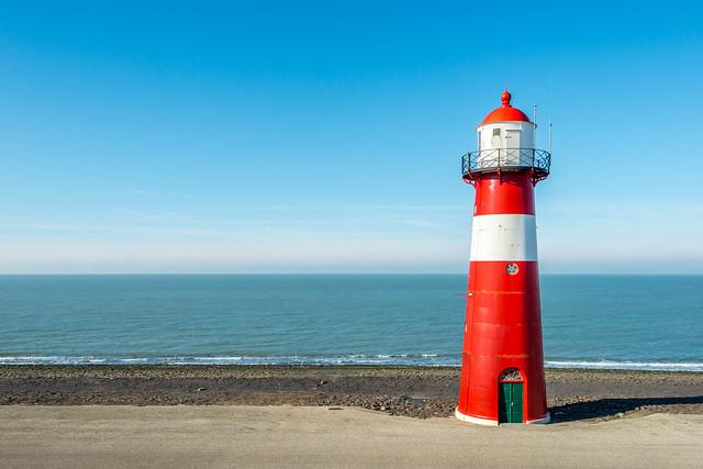 Lighthouse along the Dutch North Sea