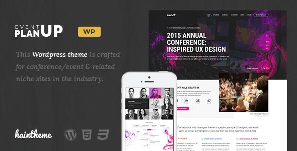 Themeforest PlanUp v1.0 - Event Booking WordPress Theme