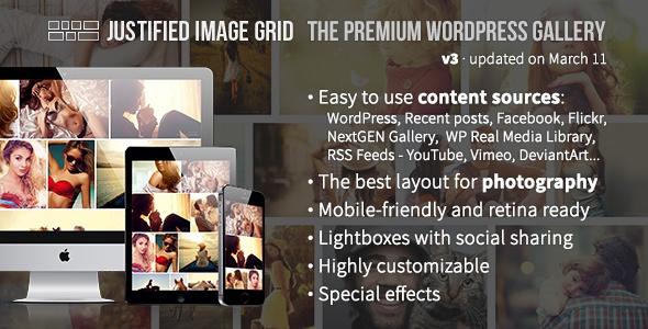 Justified Image Grid v3.0.2 - Premium WordPress Gallery