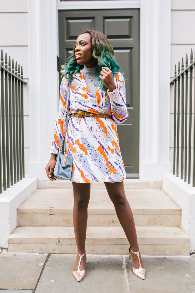 La Redoute x Carven collaboration printed mini dress