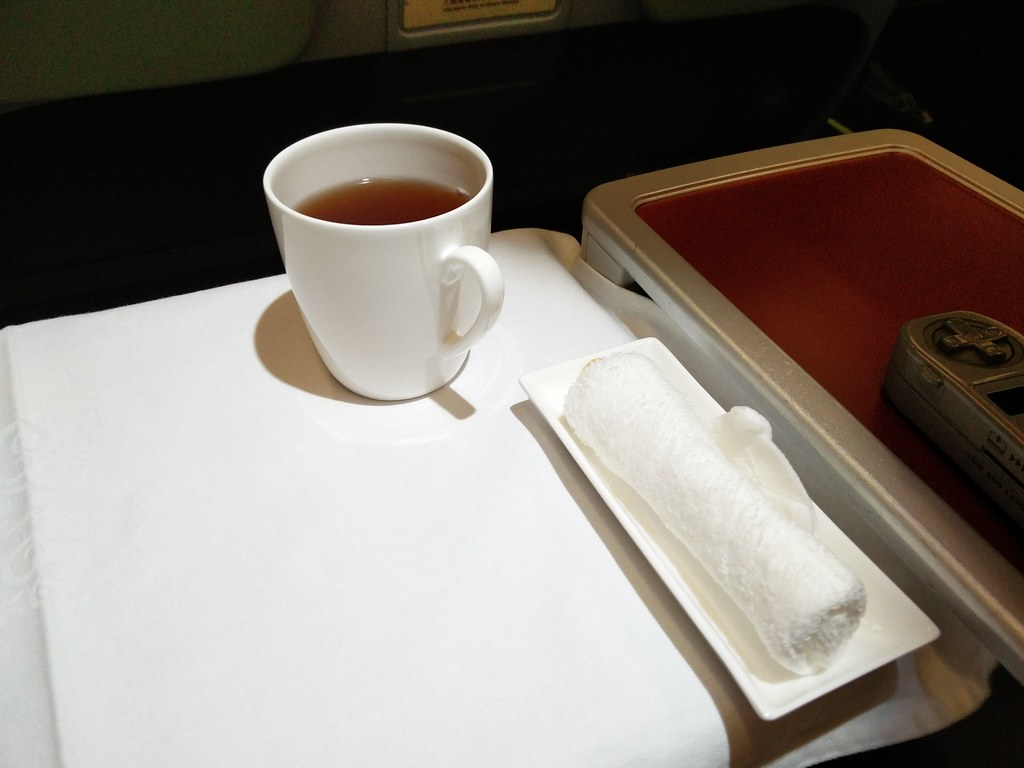 Hot tea and towel service