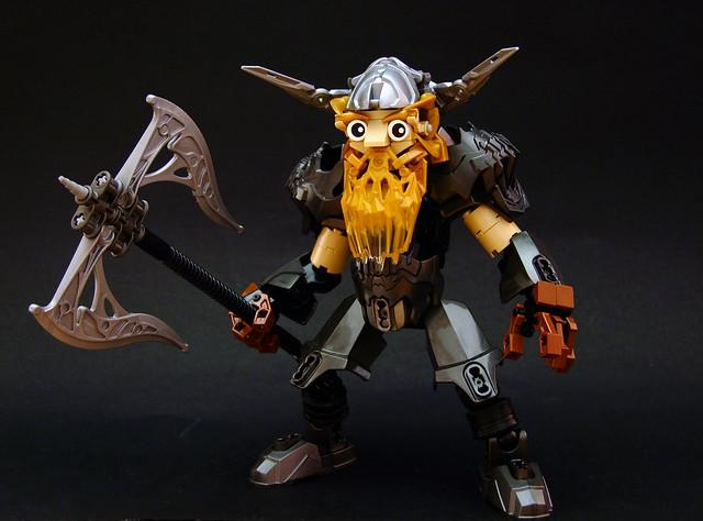Khugrock Ironhand - LEGO Guerrier nain et armure de cristal Bionicle