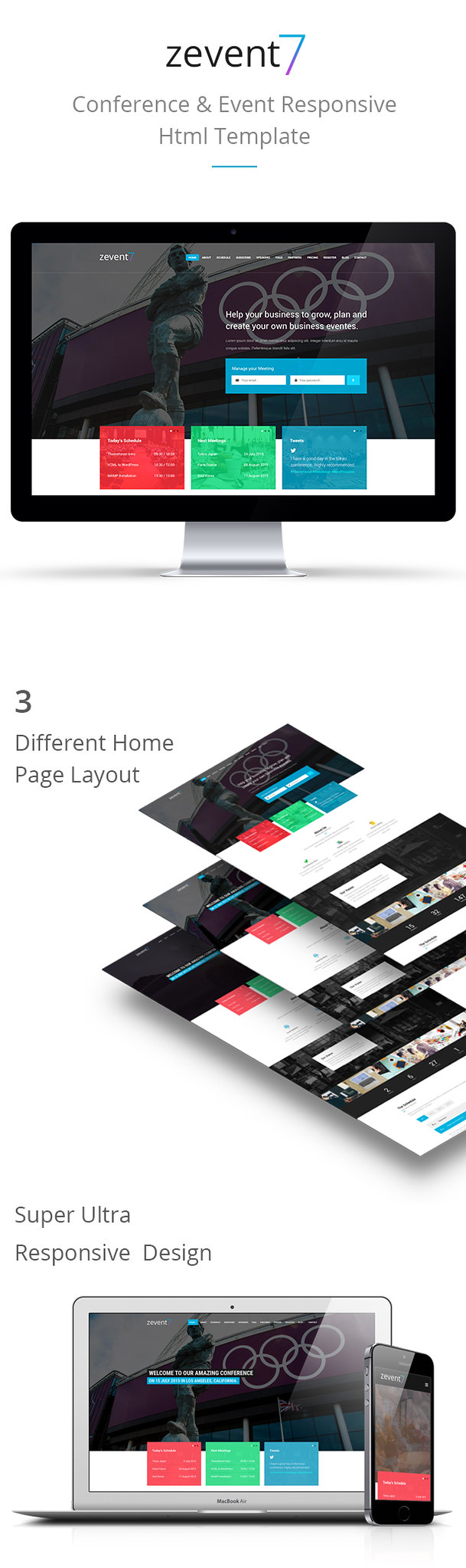 Zevent - Conference & Event Responsive Html Template