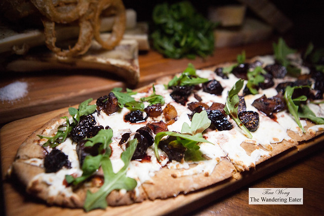 Pig & Fig Flatbread - guanciale, black mission fig, arugula