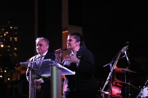 Lee Brian Schrager & Alex Guarnaschelli speaking at PAMM Art of the Party