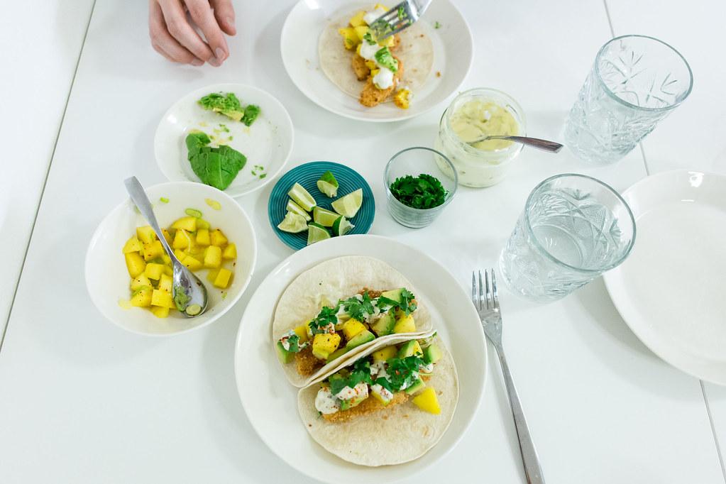 Halloumi-tacos