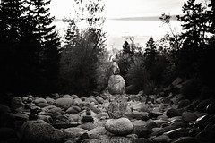 """Week 16 of 52 - Theme: """"Pinhole"""" Dry Riverbed Cairn"""