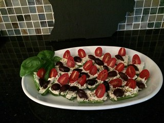 Greek salad celery appetizers