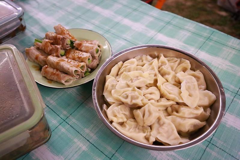 青蔥肉卷和水餃