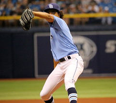 Chris Archer pitches on #OpeningDay 2016