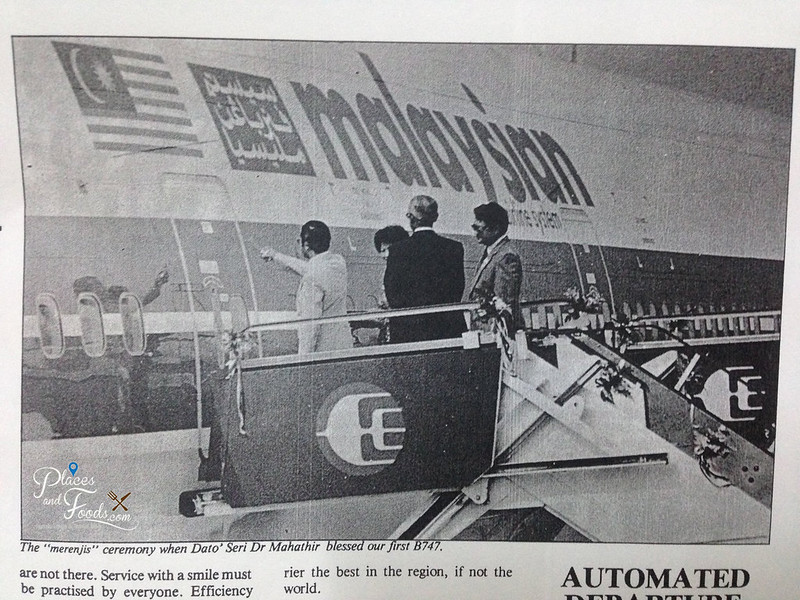 malaysia airlines 1981 mahathir bless b747