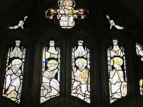 Some stained glass windows, St. Andrew's, Mottisfont