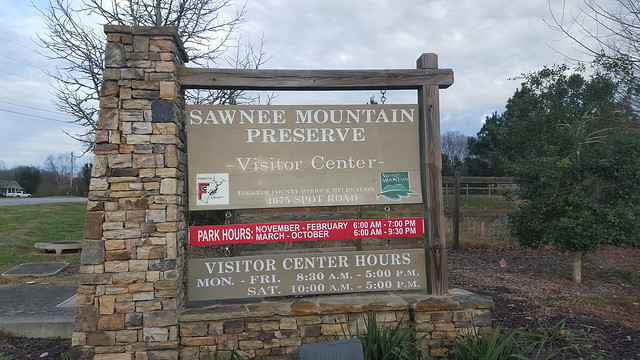 Sawnee Nature Preserve Sign