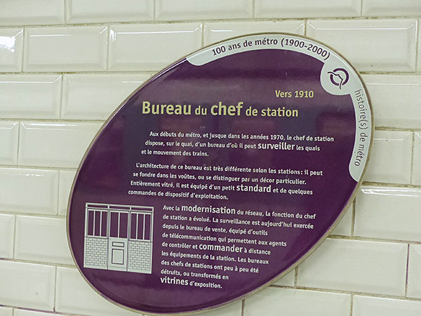 bureau du chef de station