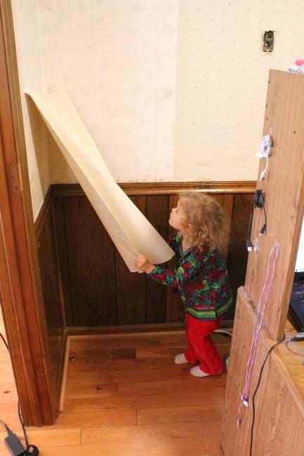 Panda peeling wallpaper