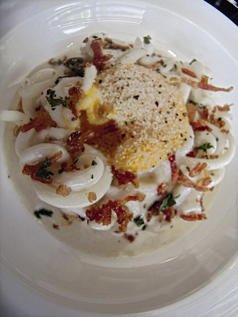 Squid Carbonara
