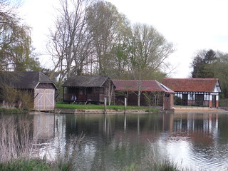 Boat Houses along Isis River in Burcot