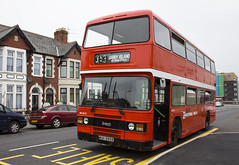 Leyland Olympian MUH289X at Cardiff Transport Preservation Group depot, Barry