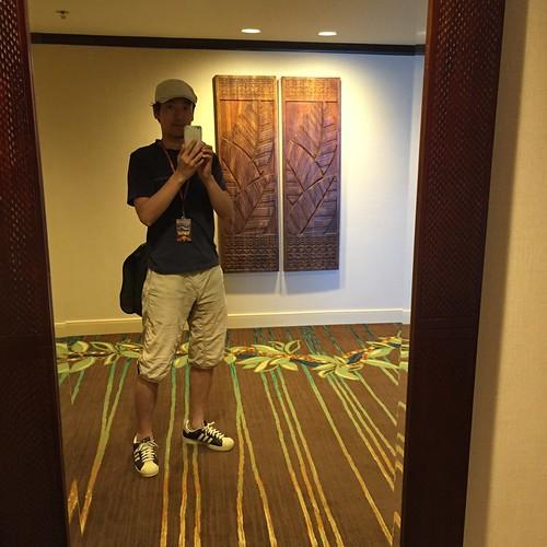 ハワイでセルフィー