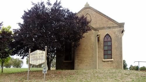 Even the church looks unfriendly.