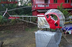 Helicopter with Santa Claus