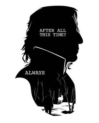 I saw this on Twitter. Thanks to whoever drew it (it was uncredited when I saw it). #alanrickman