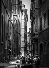 Crowded Street in Rome