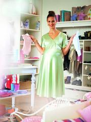 Maternity Satin Dress - PDF Pattern