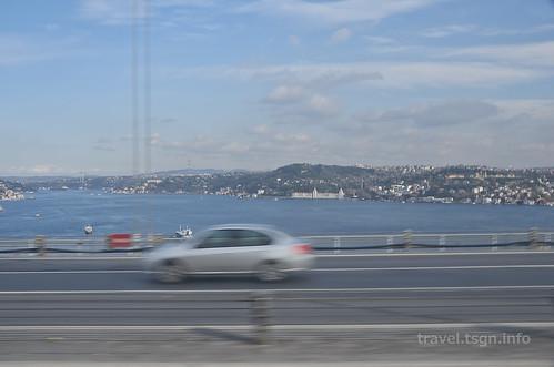 【写真】東欧周遊 : ボスポラス海峡(ボスポラス大橋より)