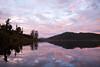 Sunrise over Lake Ianthe in New Zealand