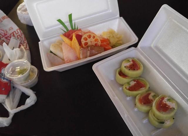 Chirashi, special cucumber roll