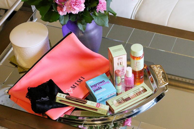 mimi bag, beauty products
