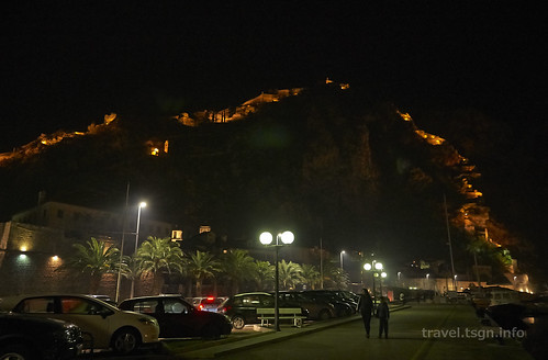 【写真】東欧周遊 : コトル・旧市街(夜)