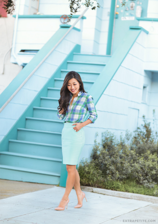 j.crew factory petites work outfit spring fashion