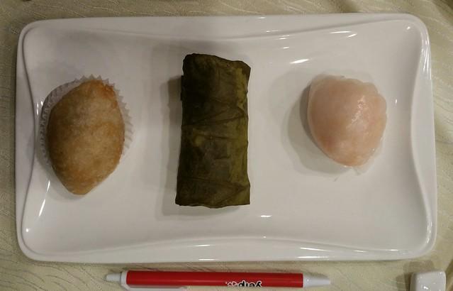 2016-Feb-24 Fortune House - dim sum meat dumpling, sticky rice, shrimp dumpling