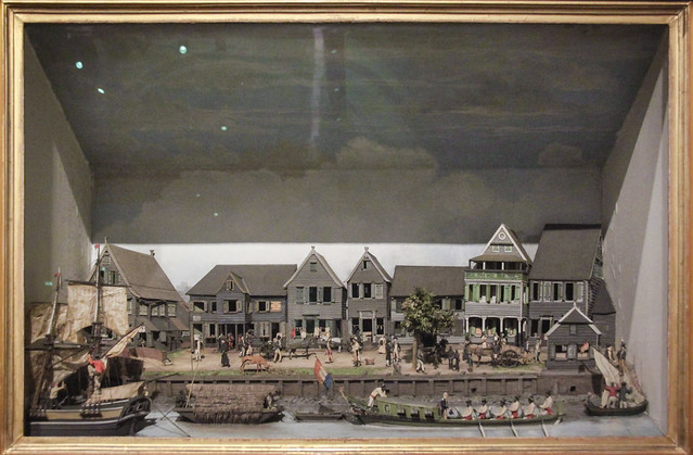 Diorama of the waterfront of Paramaribo, 1820