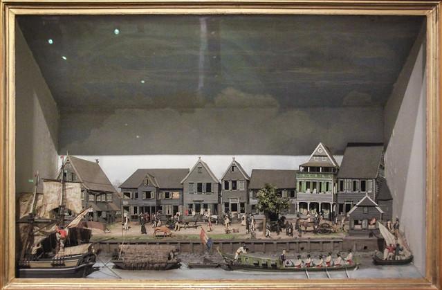 Diorama of the waterfront of Paramaribo, 1820