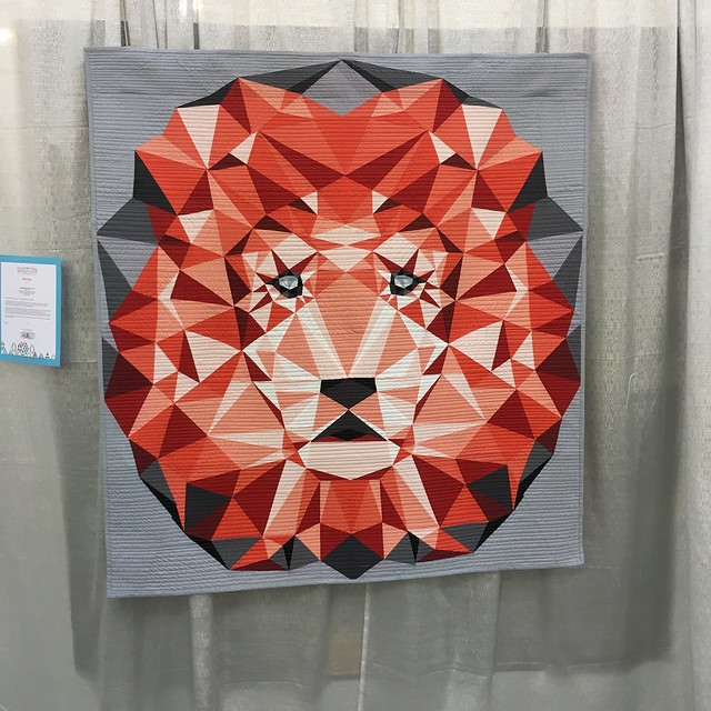 """Jungle Abstractions: The Lion"" by Violet Craft of Beaverton, Oregon."