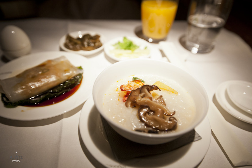 Lobster congee with condiments