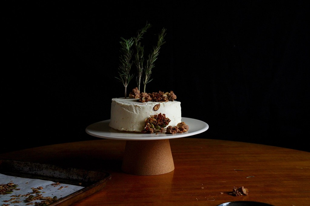 blood orange sumac and rosemary layer cake