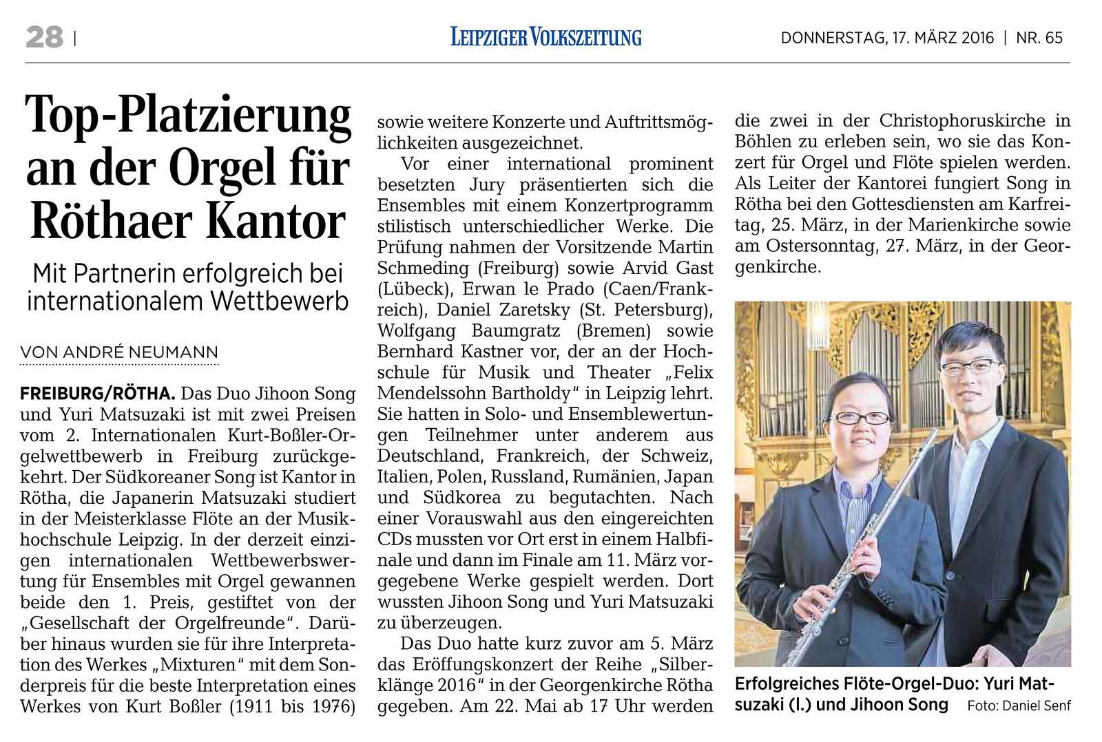 Leipziger Volkszeitung(LVZ), 17.3.2016