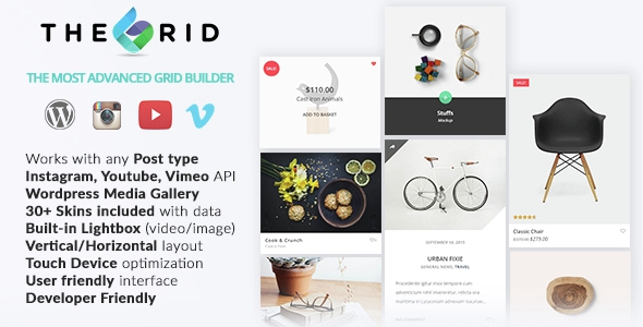 Codecanyon The Grid v1.0.8 - Responsive Wordpress Grid Builder