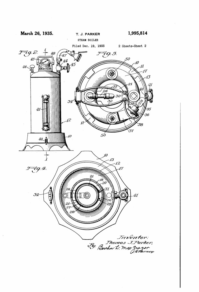 Patent No 1995814a Steam Boiler