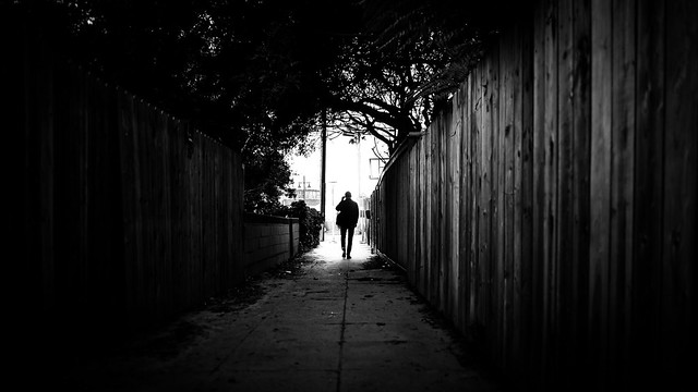 Walking in Venice beach - Los Angeles, United States - Black and white street photography