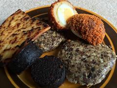 Scotch Egg, Haggis, Black Pudding at home in Scotl…