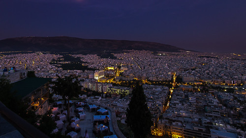 city travel summer vacation colour beautiful night high holidays europe flickr cityscape nightshot hellas athens bynight greece gr athina attica ellada lykabetus ioannisdg gofathens