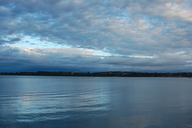 Blue Sunset over Lago Llanquihue, Puerto Varas, Chile