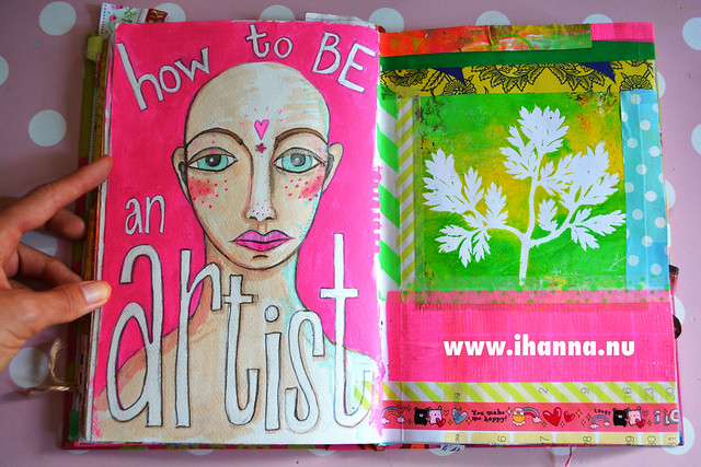 Art Journal Painting by iHanna: how to be an artist