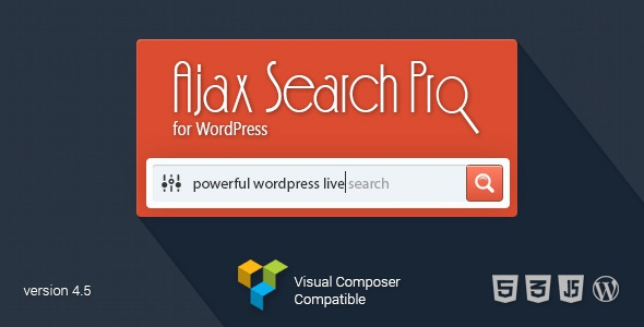 Ajax Search Pro v4.9.1 for WordPress - Live Search Plugin